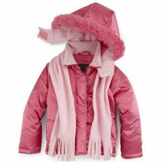 Girls Puffer Coat with matching scarf - Size Medium 5/6 NWT Rothschild #Rothschild #PufferJacket #Everyday