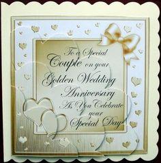 Handmade silver 25th wedding anniversary greeting card anniversary card gallery golden wedding anniversary shell edged stacker m4hsunfo