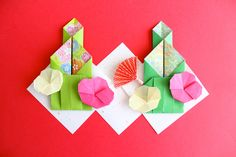 How to fold Kadomatsu with origami : Dooomes Origami Cards, Origami Paper, Diy For Kids, Crafts For Kids, Diy And Crafts, Paper Crafts, Origami Folding, Japanese Patterns, Cute Japanese