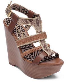 I want these!!!   Kurtis Platform Wedge Sandals - Jessica Simpson - Shoes - Macy's