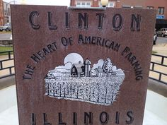 on the square, Clinton Illinois