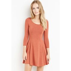 Forever 21 Knit Skater Dress ($13) ❤ liked on Polyvore