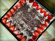 Recept Light tiramisu s ovocem Tiramisu, Graham, Sweet Treats, Food And Drink, Fitness, Desserts, Cakes, Author, Tailgate Desserts