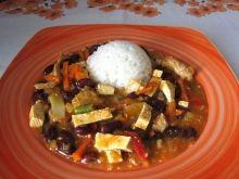 Bravčové tofu wok