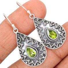 Peridot-925-Sterling-Silver-Earrings-Jewelry-SE111604