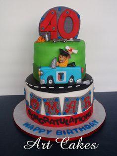 Mechanic Graduation & Birthday Cake