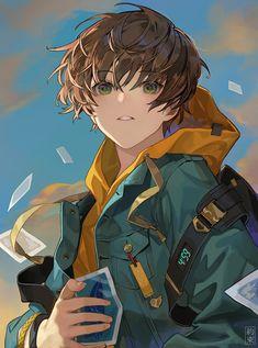 Artist: siki   Pixiv: 6558698 Otaku Anime, Manga Anime, Anime Art, Cool Anime Guys, Cute Anime Boy, Anime Boys, Boy Character, Character Design, Anime Boy Zeichnung