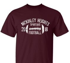 ef43a4c67 High School Impressions FB-007-W Custom Football Team T Shirts - Create  your. Football Tshirt DesignsCustom ...