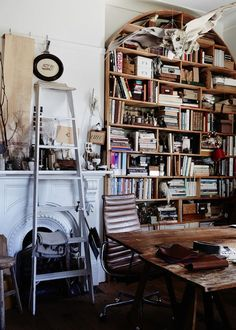 Sibella Court's workspace / studio above her Paddington Store, The Society inc. Photo - Sean Fennessy. Production – Lucy Feagins / The Design Files.  Annex off bathroom, above Sibella Court's Paddingt