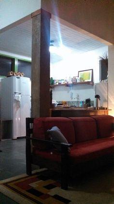 Sala integrada com a cozinha..