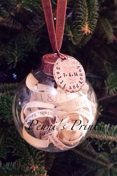 Personalized Invitation-Filled Christmas Ornament | 15 Sentimental Wedding Gifts for the Couple