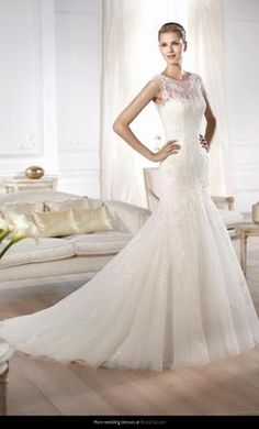 Pronovias OLASO wedding dress currently for sale at 30% off retail.