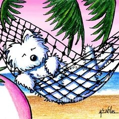 Westie Terrier Dog on Vacation
