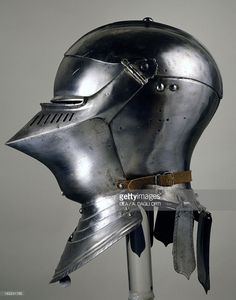 Stock Photo : Helmet for close combat on foot, 1490-1492, which belonged to Maximilian I of Habsburg (1459-1519), in Augsburg by armourer Lorenz Helmschmid, Germany, 15th century