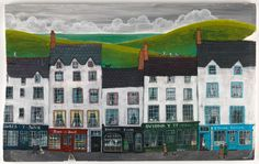 Valeriane LeBlond, Beautiful paintings by this talented lady. Painting Collage, Naive Art, Illustrations, French Artists, Beautiful Paintings, Contemporary Artists, Folk Art, Image, Landscapes