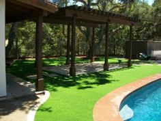 amazing use of synthetic grass around pools!! synthetic turf depot