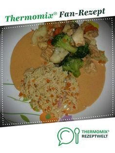 Hähnchenfilet mit Gemüse und Erdnusssoße von Truppilite2010. Ein Thermomix ® Rezept aus der Kategorie Hauptgerichte mit Fleisch auf www.rezeptwelt.de, der Thermomix ® Community.