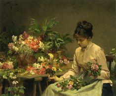 Victor Gilbert - Vendeuse de fleurs (1878)