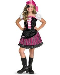 Barbie High Seas Pirate Kids Costume  - Girls Barbie Costumes