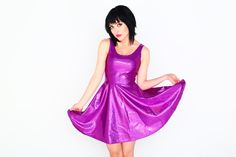 Purple Patch skater dress