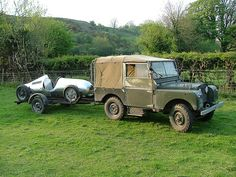 1952 Land Rover towing a 1948 Cooper JAP 500