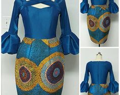 Two-Piece Reversible Versatile Hi-Lo Cape and by NanayahStudio African Print Dresses, African Dresses For Women, African Wear, African Attire, African Fashion Dresses, African Women, African Prints, African Clothes, African Inspired Fashion