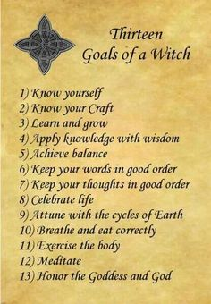13 Rules of Being a Wiccan or Witch