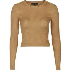 TopShop Tall Rib Crop Jumper ($35) ❤ liked on Polyvore featuring tops, sweaters, ribbed crop top, topshop sweaters, topshop, jumpers sweaters and tall tops