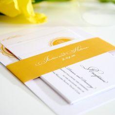 Medallion Monogram Wedding Invitation Suite in Golden Yellow on Pearl Shimmer Luxury Cardstock - Sample Orange Wedding Invitations, Wedding Invitation Design, Invites, Invitation Ideas, Cream Wedding, Ceremony Programs, Wedding Inspiration, Wedding Ideas, Design Inspiration