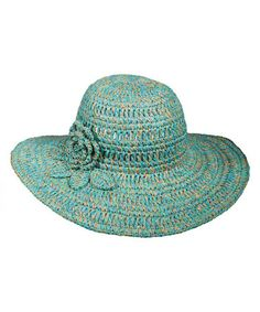 Look what I found on #zulily! Sea Green Flower Sunhat by Capelli Straworld Inc. #zulilyfinds