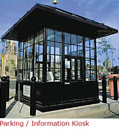 BIG: Gallery of Booths :: Prefabricated Guard House :: Prefabricated Guard Shack Northern California Kiosk Design, Booth Design, Information Kiosk, Perimeter Security, Guard House, Security Guard, Click Photo, Northern California, Glamping
