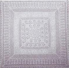 """Complex Shetland shawl uses 5 different lace patterns, including unusual Rose & Anchor. Knitting begins with the scalloped lace edging and works in towards the centre. Designed for 8 x 15g skeins (or 5 x 25g balls) of J&S Shetland 1 ply cobweb wool. Finished size 50"""" square."""