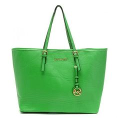 Michael Kors Jet Set Small Saffiano Travel Tote Green