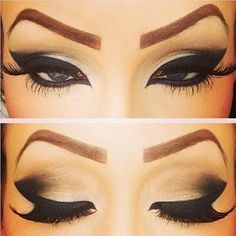 Dramatic smokey cat eye <3 wow!