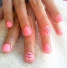 nails, short nails, pink, pattern