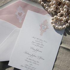 Chelsea Pink Wedding Invitation