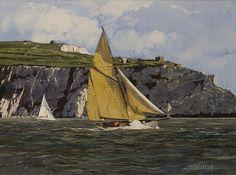 """Olivier Violin . """" Régate """" French Watercolor, 40X50cm, Prix: 400€"""