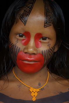 Ashaninka Indian girl, Brazil