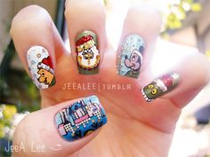 jeealee:  Disney Christmas Nails