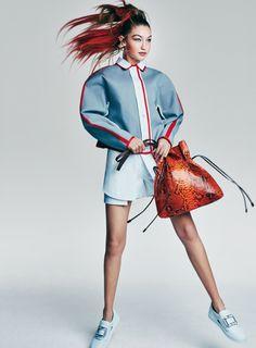Lily Aldridge, Gigi Hadid by Patrick Demarchelier for Vogue US April 2016
