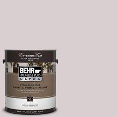 BEHR Premium Plus Ultra 1-Gal. #UL250-11 Mauve Morning Flat Exterior Paint
