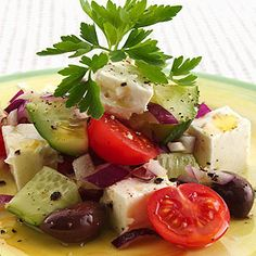 Receta de una exquisita y fácil Ensalada Griega - Ensaladas y verduras - Recetas - Charhadas.com
