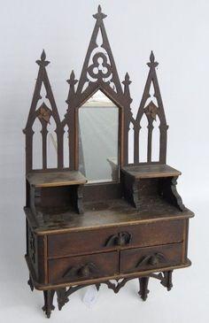 victorian furniture Victorian Medicine Cabinet - looks more like a shrine!