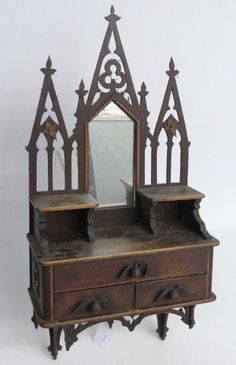 Victorian Medicine Cabinet - looks more like a shrine!