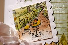 Heartfelt Creations image, Twinchie Square from Inchie Arts, painted with Shinhan Premium Watercolors