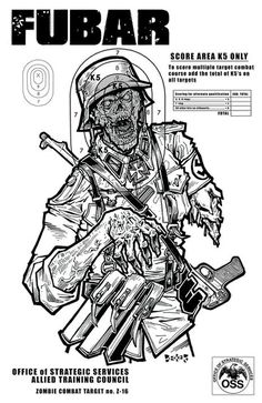 Zombie Shooting Target