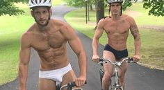 Max Emerson, on a bicycle, in briefs – just enough to make you swoon Giant Inflatable Unicorn, Max Emerson, Lgbt Youth, Toys For Boys, Boy Toys, Bicycle Race, Cycling, The Incredibles, Swimwear