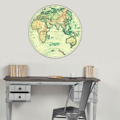 Map moveable fabric wall dot