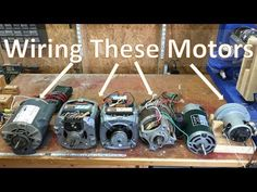 How To Wire Most Motors To Build Shop Tools, Blower motor, Washing machine, and DC Homemade Tools, Diy Tools, Hand Tools, Diy Electronics, Electronics Projects, Diy Projects Gadgets, Fun Projects, Amazing Tools, Washing Machine Motor