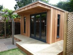 Now You Can Build ANY Shed In A Weekend Even If You've Zero Woodworking Experience! Start building amazing sheds the easier way with a collection of shed plans! Outdoor Office, Backyard Office, Backyard Studio, Backyard Sheds, Garden Studio, Outdoor Sheds, Garden Office, Shed Conversion Ideas, Shed Office